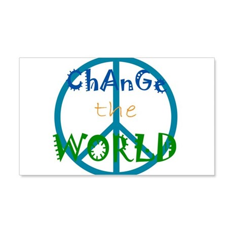 Change The World Peace Sign 22x14 Wall Peel