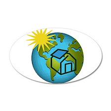 Solar Power Earth 22x14 Oval Wall Peel