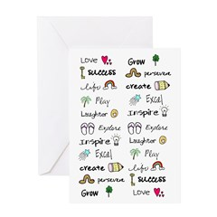 Motivational Words Greeting Card