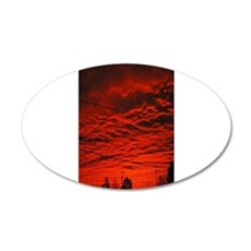 Delta Fiery Sunrise 22x14 Oval Wall Peel