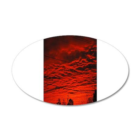 Delta Fiery Sunrise 22x14 Oval Wall Peel
