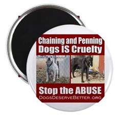 "Chaining IS Cruelty 2.25"" Magnet (10 pack)"