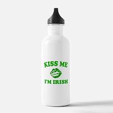 Kiss Me Irish Shamrock Water Bottle