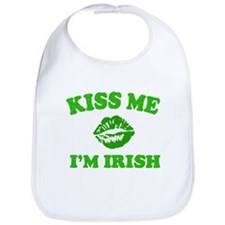 Kiss Me Irish Shamrock Bib