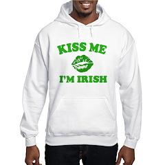 Kiss Me Irish Shamrock Hoodie