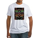 Psychedelic Stars Fractal Fitted T-Shirt