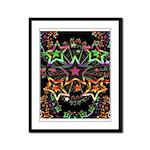 Psychedelic Stars Fractal Framed Panel Print