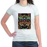 Psychedelic Stars Fractal Jr. Ringer T-Shirt