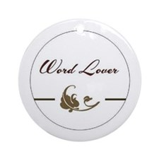 Word Lover Ornament (Round)