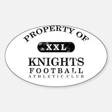 Property of Knights Sticker (Oval)