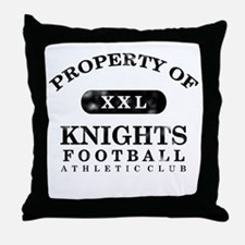 Property of Knights Throw Pillow