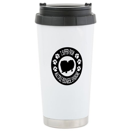 Pekingese Stainless Steel Travel Mug