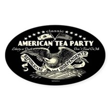 Classic American Tea Party Oval Decal