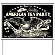 Classic American Tea Party Yard Sign