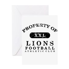 Property of Lions Greeting Card