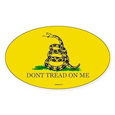 Classic DTOM Gadsden Oval Sticker (10 pk)