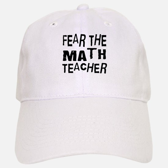 Funny Math Teacher Baseball Baseball Cap