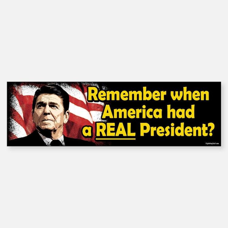 A REAL President Bumper Bumper Bumper Sticker