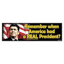 A REAL President Bumper Car Sticker