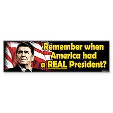 A REAL President Bumper Sticker (10 pk)