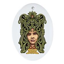 Green Man Ornament (Oval)