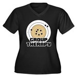Group Therapy - Guns Women's Plus Size V-Neck Dark
