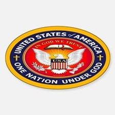 One Nation Under God Oval Decal