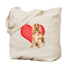 Cocker Spaniel Heart Tote Bag