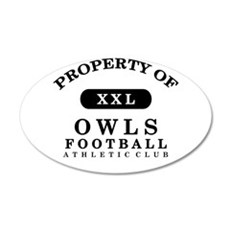 Property of Owls 22x14 Oval Wall Peel