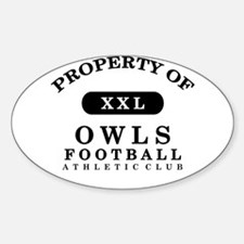 Property of Owls Sticker (Oval)