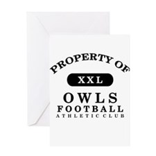 Property of Owls Greeting Card
