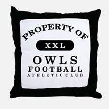 Property of Owls Throw Pillow