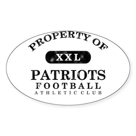 Property of Patriots Sticker (Oval)