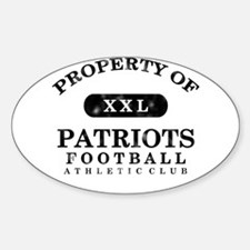 Property of Patriots Sticker (Oval)