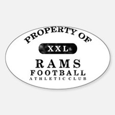 Property of Rams Sticker (Oval)