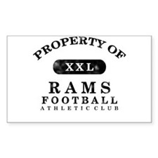 Property of Rams Decal