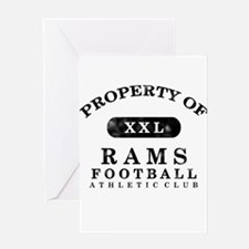 Property of Rams Greeting Card