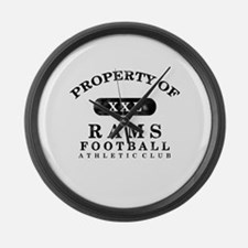 Property of Rams Large Wall Clock