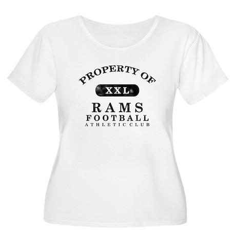 Property of Rams Women's Plus Size Scoop Neck T-Sh