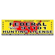 Terrorist Hunting Permit Bumper Bumper Sticker