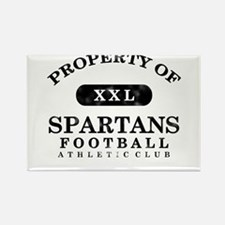Property of Spartans Rectangle Magnet
