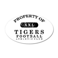 Property of Tigers 22x14 Oval Wall Peel