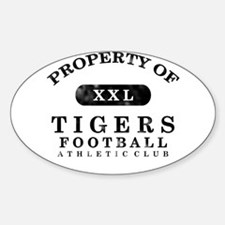 Property of Tigers Sticker (Oval)