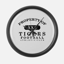 Property of Tigers Large Wall Clock