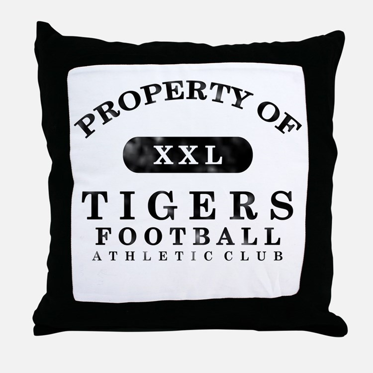 Property of Tigers Throw Pillow