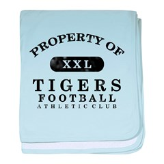Property of Tigers baby blanket