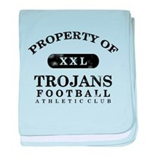 Property of Trojans baby blanket