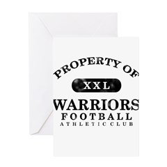 Property of Warriors Greeting Card