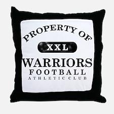 Property of Warriors Throw Pillow