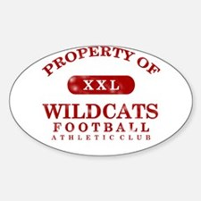 Property of Wildcats Sticker (Oval)